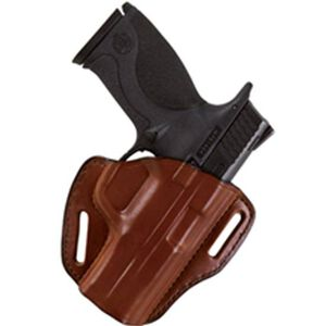 """Bianchi #58 P.I. Holster SZ1 S&W 36, 640 and similar J frame models (2"""") Right Hand Plain Tan Leather"""