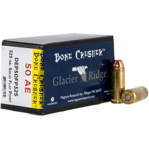 Magnum Research Glacier Ridge Bone Crusher .50 AE Ammunition 25 Rounds 325 Grain SFP