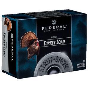 """Federal Strut-Shok 12 Gauge Ammunition 10 Rounds 3"""" #4 Shot Size 1-7/8oz Lead Shot 1210fps"""