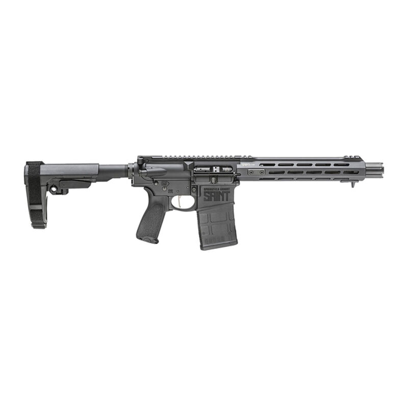 "Springfield Armory SAINT Victor .308 AR-10 Semi Auto Pistol 10.3"" Barrel 20 Rounds with a SB Tactical SBA3 Pistol Brace Black"