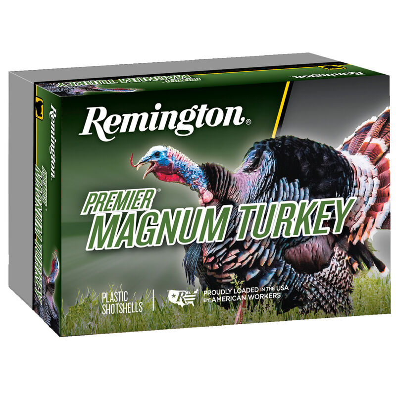 "Remington Premier Magnum Turkey 12 Gauge Ammunition 5 Rounds 3"" Shell #5 Copper-Plated Hardened Lead Shot 2 oz 1175 fps"
