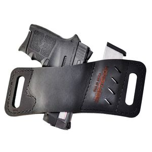 VersaCarry Quick Slide Micro with Mag Holster Ambidextrous Belt Slide Holster Leather Black