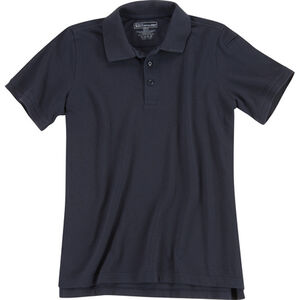 5.11 Tactical Women's Short Sleeve Utility Polo Polyester Cotton Medium Black 61173