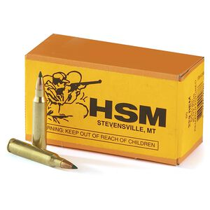 HSM .223 Remington Ammunition 50 Rounds Sierra BlitzKing 50 Grains Remanufactured HSM-223-51