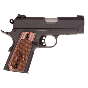 "Taurus Officer's 1911 .45 ACP Semi Auto Pistol 3.50"" Barrel 6 Rounds Novak Sights Walnut Wood Grips Matte Black Finish"