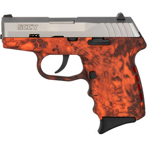 "SCCY CPX-2 9mm Luger Subcompact Semi Auto Pistol 3.1"" Barrel 10 Rounds No Safety Kryptek Inferno Polymer Frame with Stainless Slide Finish"
