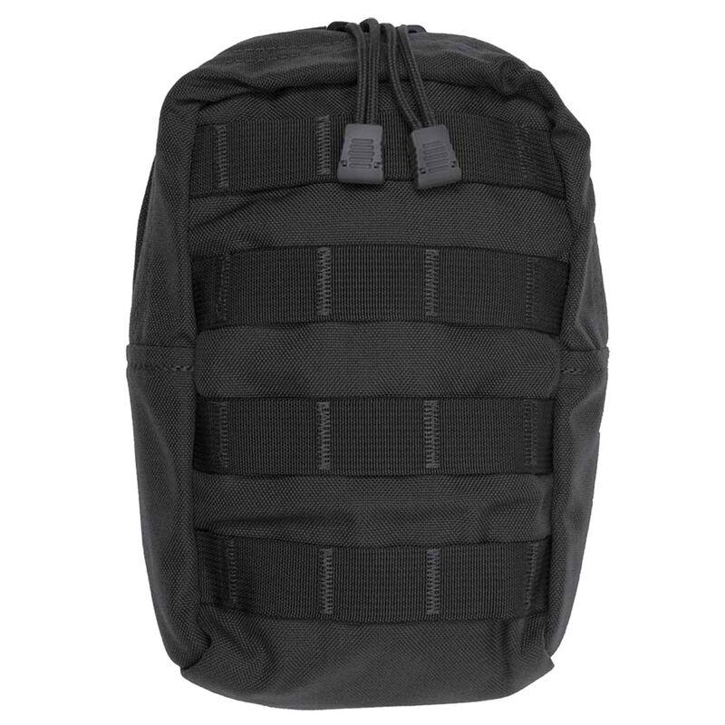 "Tac Shield Vertical General Purpose Utility MOLLE Pouch 9""x6""x4"" Nylon Black T4103BK"