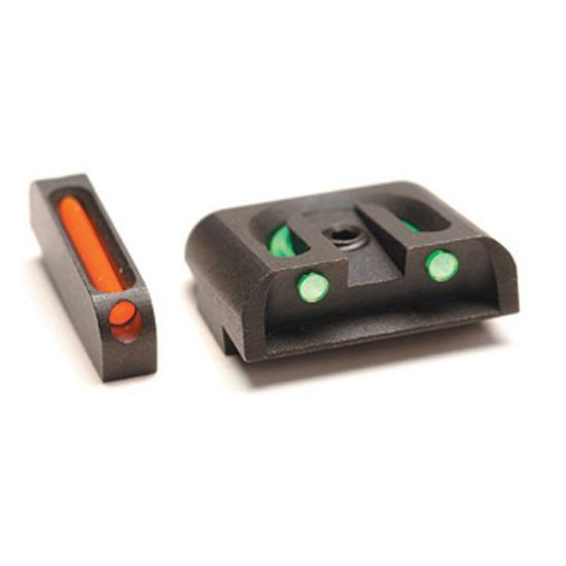 TruGlo Brite-Site Fiber Optic Sight Set for GLOCK 9/40/.357/.45 GAP Models 3 Dot Sights CNC Machined Steel Housing Matte Black Finish