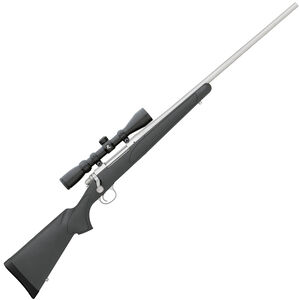 """Remington 700 ADL Package .243 Win Bolt Action Rifle 4 Rounds 24"""" Barrel with Scope Black Synthetic Stock Stainless Steel Finish"""