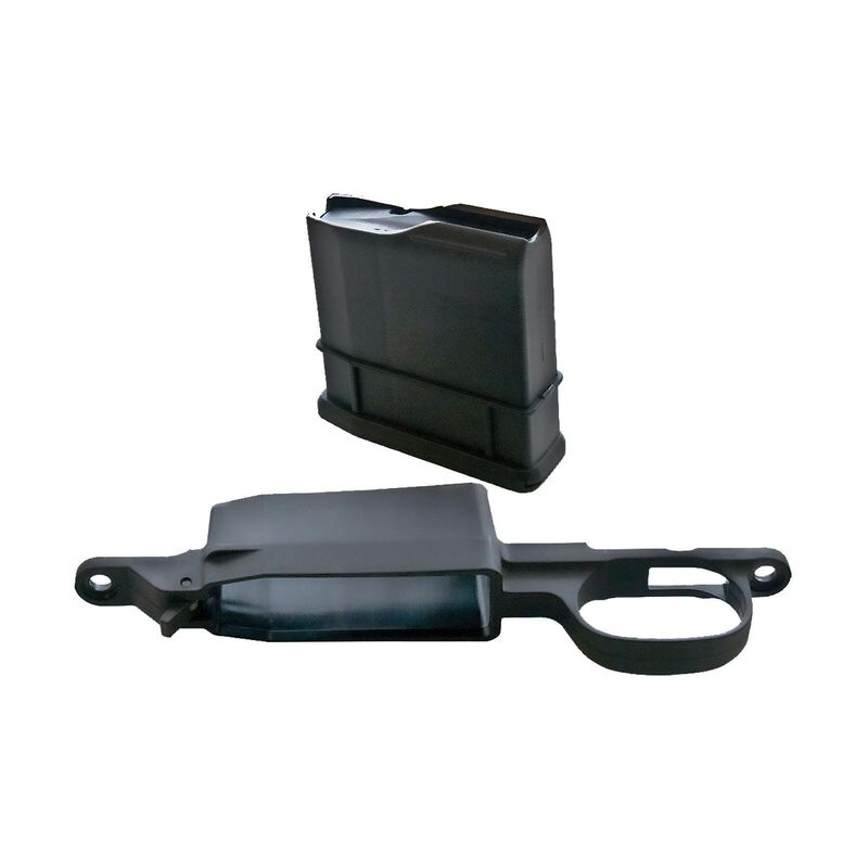 Legacy Sports International AmmoBoost Howa 1500 Detachable Magazine  Conversion Kit  223 Rem/ 204 Ruger 5 Round Magazine with Floor Plate  Polymer Black