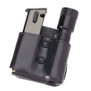 "Galco MFP Cop Mag Flashlight Paddle Ambidextrous Fits SIG P220 and 1"" Barrel Flashlight Leather Black"
