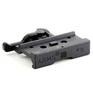A.R.M.S #31 Aimpoint Micro Throw Lever Mount Aircraft Grade Aluminum Steel Locking Feet Matte Black 31