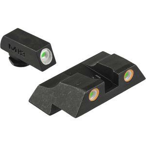 Meprolight Tru-Dot Fixed Night Sights Glock 17/19/22 Green/Orange Steel