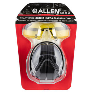 Allen Reaction Lo-Profile Shooting Muff and Glasses Combo Dark Gray