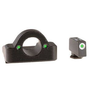 AmeriGlo GLOCK .45 ACP and 10mm Ghost Ring Night Sight Set Green Front and Rear GL-126