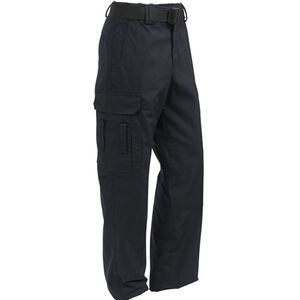 Elbeco ADU Ripstop EMT Men's Pants Size 40 Unhemmed Polyester Cotton Ripstop Midnight Navy