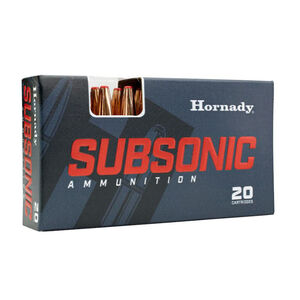 Hornady Subsonic .45-70 Government Ammunition 20 Rounds 410 Grain SUB-X 82742