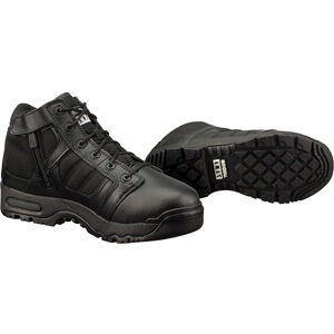 "Original S.W.A.T. Metro Air 5"" Side Zip Men's Boot Size 8 Regular Non-Marking Sole Leather/Nylon Black 123101-8"