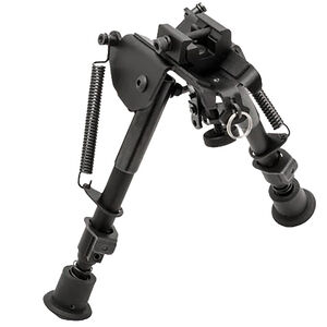"TRUGLO Tac-Pod Adjustable Pivot Head Bipod 6"" to 9"" with Adapter Aluminum Black TG8902S"