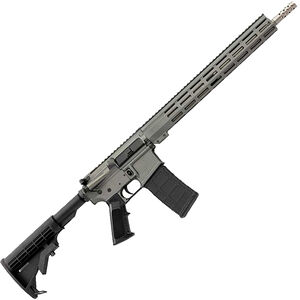 """Great Lakes .223 Wylde AR-15 Semi Auto Rifle 16"""" Stainless Steel Barrel 30 Rounds 15"""" Free Float M-LOK Handguard Collapsible Stock Gray Cerakote Finish"""