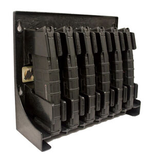 Mag Storage Solutions AR-15 Magazine Holder Impact Grade ABS Plastic Matte Black Finish