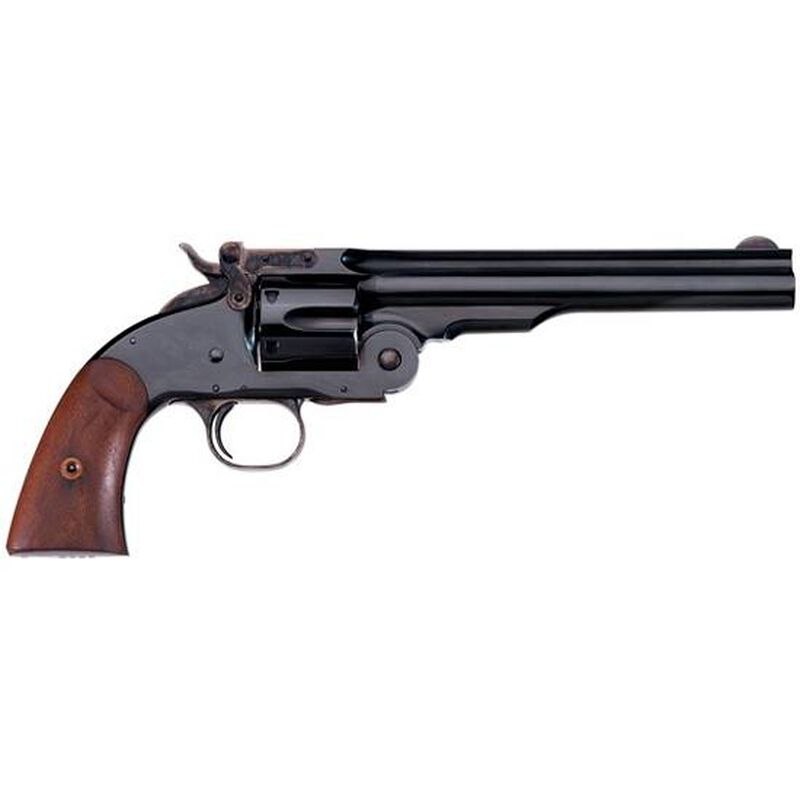 "Taylor's & Co Schofield Top Break Revolver 45 LC 7"" Barrel 6 Rounds Walnut Grip Blued"