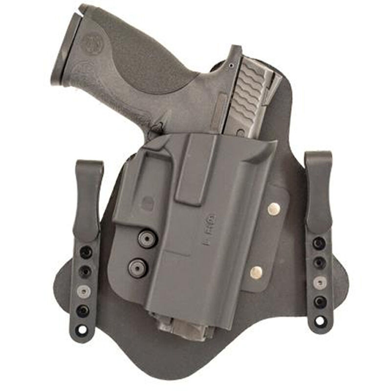 Comp-Tac QH Hybrid IWB Modular Holster Right Hand Fits GLOCK 9mm and .40 Kydex/Leather Black