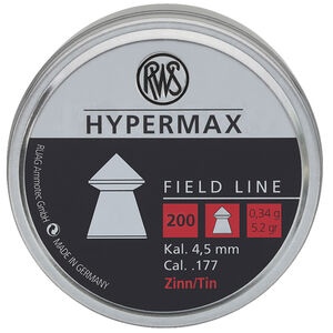 RWS Hypermax .177 Caliber Pellets 5.2gr 200pk