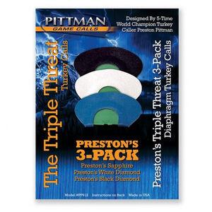 Pittman Game Calls Preston's Triple Threat Combo Pack Diaphragm Turkey Call
