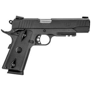 "Taurus Full Size 1911 .45 ACP Semi Auto Pistol 5"" Barrel 8 Rounds Novak Sights Accessory Rail Matte Black Finish"