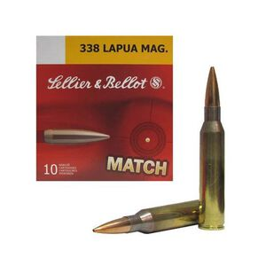 Sellier & Bellot .338 Lapua Magnum Ammunition 10 Rounds Match BTHP 300 Grains SB338LMB