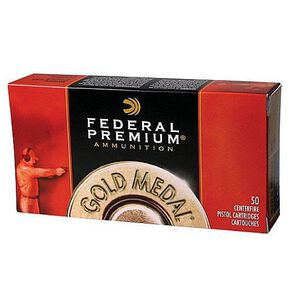 Federal Premium Gold Medal Match .38 Special Ammunition 50 Rounds 148 Grain Lead Wadcutter 710fps