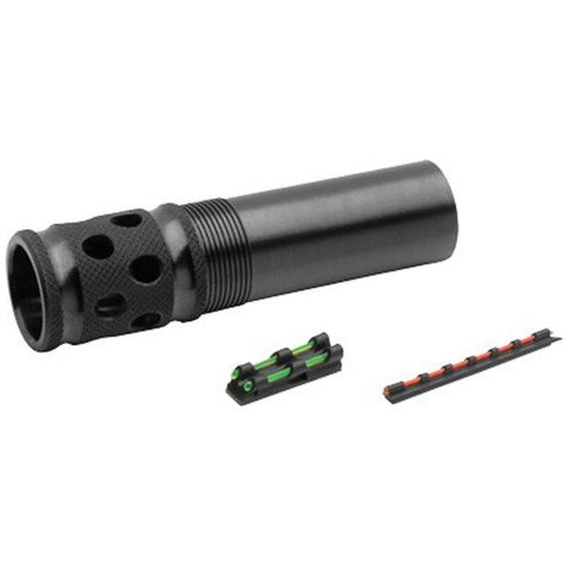 TRUGLO Mossberg 835/935 12 Gauge Gobble Stopper Extreme Extended Ported Turkey Choke Steel Blued with Gobble-Dot Dual Color Fiber Optic Sights Set TG171XC