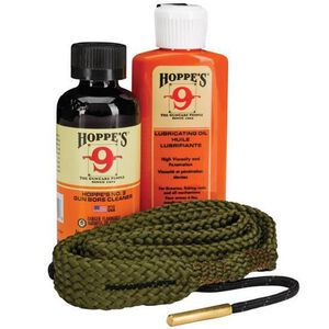 Hoppe's 1-2-3 Done Complete Firearm Cleaning Kit for Rifles Chambered in .30 Caliber Includes Bore Solvent/Lubricating Oil/Bore Snake