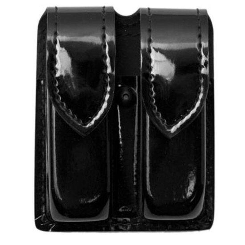 Safariland Model 77 Double Handgun Magazine Pouch GLOCK 20/21 Magazines High Gloss Finish Hidden Snap Closure Black 77-383-9HS
