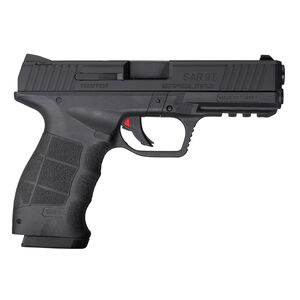 "Sarsilmaz USA SAR 9T Semi Auto Pistol 9mm Luger 4.4"" Barrel 17 Rounds Fixed Sights Striker Fired No Manual Safety Accessory Rail Polymer Frame Black Finish"