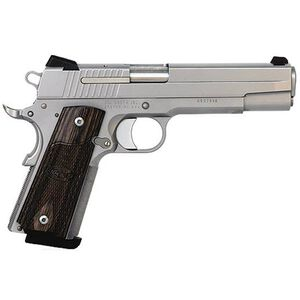 "SIG Sauer 1911 Full Size Semi Auto Pistol .45 ACP 5"" Barrel 8 Rounds Wood Grips Stainless Finish 1911-45-SSS-CA"