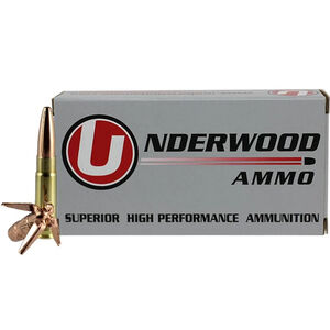 Underwood Ammo .300 AAC Blackout Ammunition 20 Round Box 194 Grain Maximum Expansion Projectile 1025 fps