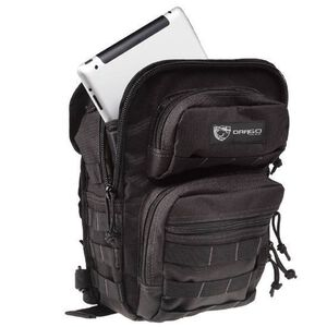 """DRAGO Gear Sentry Pack for iPad or Tablet 13""""x10""""x7"""" 600D Polyester Black 14-306BL"""