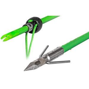TruGlo Standard Point Fishing Arrow with Slide and Stop Fiberglass Fluorescent Green Arrow Shaft