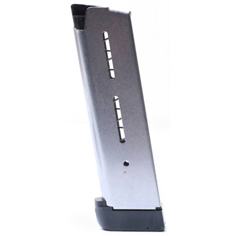 Wilson Combat 1911 Full Size Magazine  45 ACP 8 Rounds Extended Plastic  Base Pad Stainless Steel 47DE