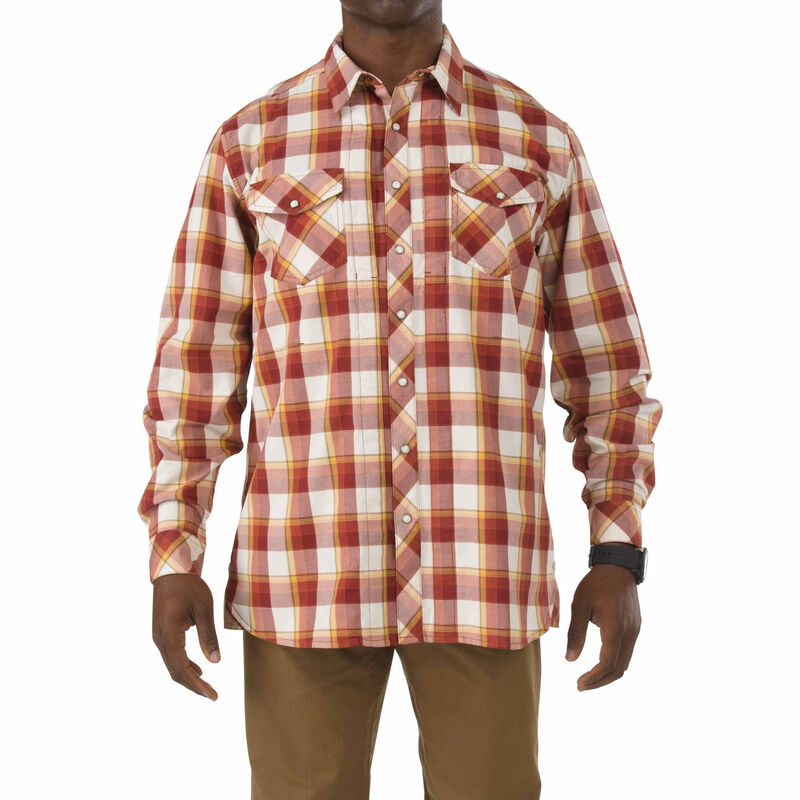 5.11 Tactical Flannel Shirt Long Sleeve Cotton Twill Large Ivory 72404075L