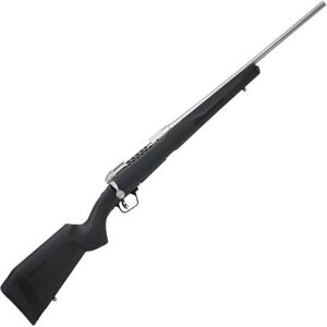 """Savage 110 Lightweight Storm Bolt Action Rifle 6.5 Creedmoor 20"""" Barrel 4 Rounds Spiral Fluted Bolt Synthetic Stock Stainless Steel Finish"""