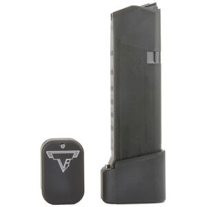 Taran Tactical Innovations +4/+5 GLOCK 19/23 Firepower Base Pad Kit Flat Black