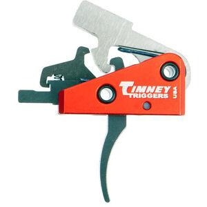 "Timney Trigger AR Targa 2 Stage Short Trigger AR-15 Rifles Small Pin .154"" Diameter Curved Trigger Shoe 2LB Plus 2LB Aluminum Red 662S"