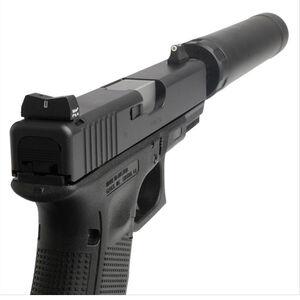 XS Sight Systems DXT Standard Dot Suppressor Height Night Sights GLOCK 17/19/22/23 Green Tritium Front/Solid /Tritium Rear Matte Black