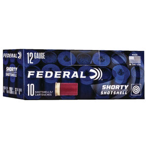Federal Shorty Shotshell 12 Gauge Ammunition 10 Rounds #4 Buck 1200 fps