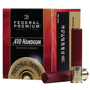 "Federal .410 Bore Ammunition 20 Rounds 3.0"" 000 Buck 5 Pellets"