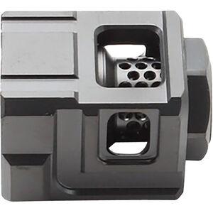 CGS Suppressors Qube Metric Black Stainless Steel Compensator