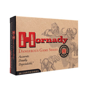 Hornady Dangerous Game .375 H&H Magnum Ammunition 20 Rounds InterLock DGS 300 Grains 82322